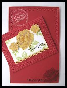 Flash Card - Stippled Blossom Thank You