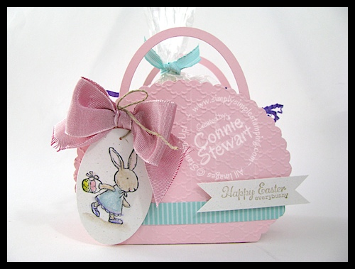 Scallop Oval Easter Basket