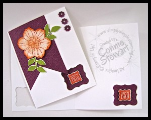 Secret Garden Happy Day Flash Card - www.SimplySimpleStamping.com
