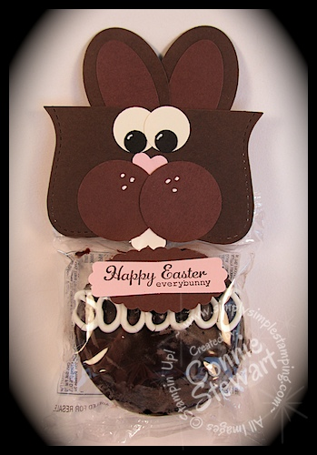 IRS Week (I'd Rather Stamp) – Chocolate Bunny Cupcake Topper