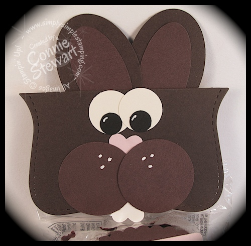 Little Debbie Chocolate Bunny - www.SimplySimpleStamping.com - Created by Connie Stewart