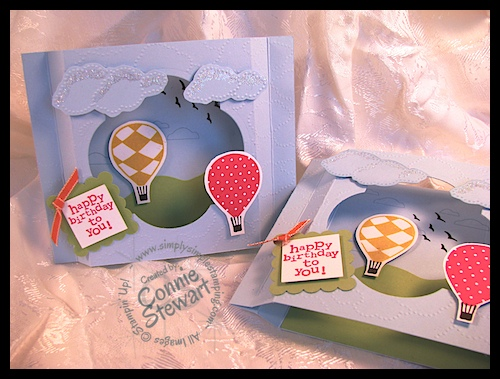 Up, Up & Away Shadow Box Card
