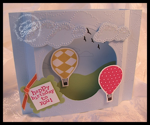 Up, Up & Away Shadow Box Card 2