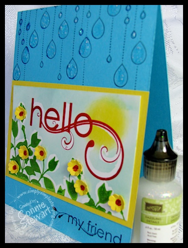 Crayon Resist Hello Card