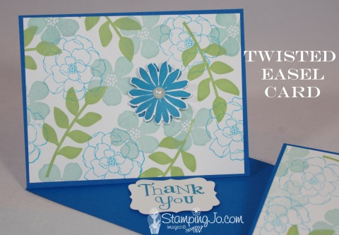 Stampin Up Twisted Easel Card