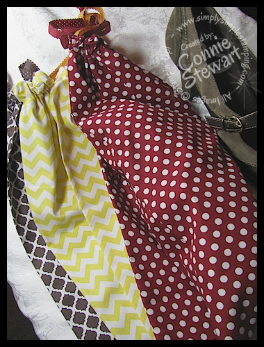 Shoe Bags from Stampin' Up oversized Fat Quarters 1