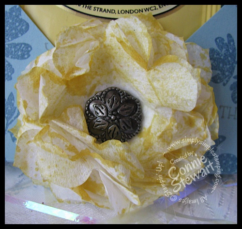 Paper Napkin Flowers - www.SimplySimpleStamping.com