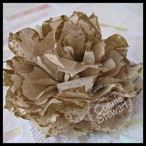 Paper Napkin Flowers - www.SimplySimpleStamping.com