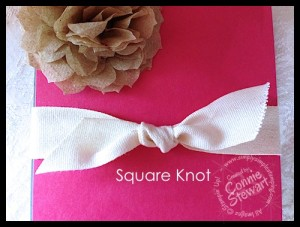 Video:  How to tie a square knot