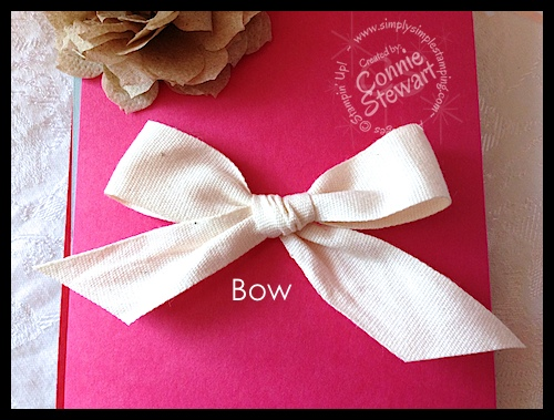 Video How To Tie Pretty Bows Square Knots Simply Simple Stamping
