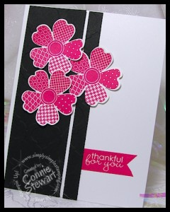 Flash Card 2.0 - Flower Shop Thank You card by www.SimplySimpleStamping.com