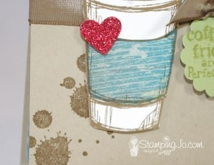 Iced Coffee Packet Holder - www.SimplySimpleStamping.com