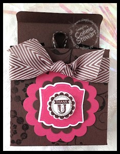 Fold Flat Box with Hershey Nuggets - www.SimplySimpleStamping.com