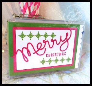 Forget the bag - wrap your gifts in style!  Wood mount stamp cases!   www.SimplySimpleStamping.com