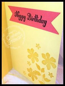 Luau Birthday Card (inside) - www.SimplySimpleStamping.com