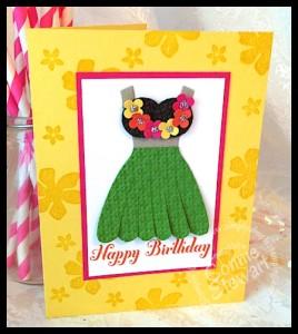 Luau Birthday Card - www.SimplySimpleStamping.com
