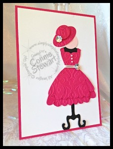"Wicked ""Glinda"" card - www.SimplySimpleStamping.com"