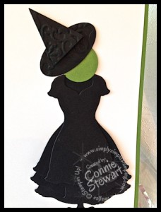 "Wicked ""Elphaba"" card - www.SimplySimpleStamping.com"