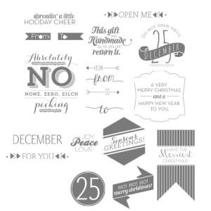 Christmas Tagables - www.SimplySimpleStamping.com