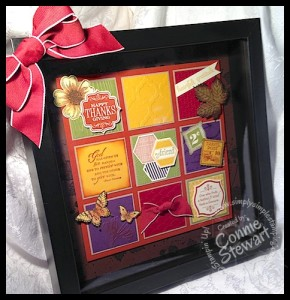Thanksgiving Shadow Box (Ikea) - www.SimplySimpleStamping.com