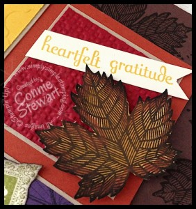 Thanksgiving Shadow Box Frame - www.SimplySimpleStamping.com - Instructions on the website too!