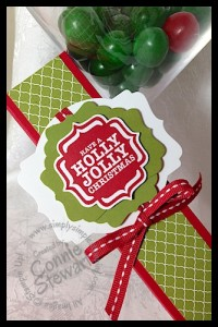 Christmas Chocolate Gift box - www.SimplySimpleStamping.com