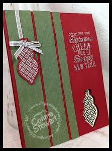 Video tutorial - FLASH CARDS 2.0 - Ornament Keepsakes card - www.SimplySimpleStamping.com