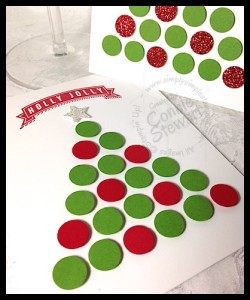 FLASH CARDS 2.0 - Punched Christmas Tree - www.SimplySimpleStamping.com