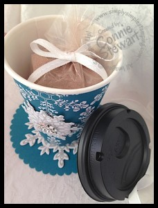 Cocoa To Go - Recipe for Gourmet Hot Cocoa mix that will blow your mind!  Get the recipe at www.SimplySimpleStamping.com