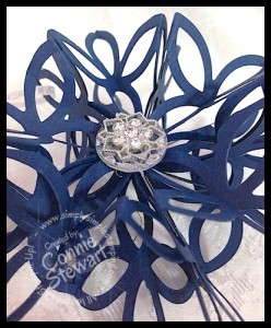 Video Tutorial - Snowflake Ornament - www.SimplySimplStamping.com