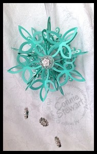 VIDEO:  Glowing Snowflake Ornament - www.SimplySimpleStamping.com