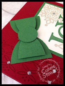 Flash Card - Love & Joy Christmas Card - www.SimplySimpleStamping.com