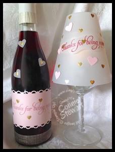 Valentine Wine & Wine Glass Lamp Shade - www.SimplySimpleStamping.com