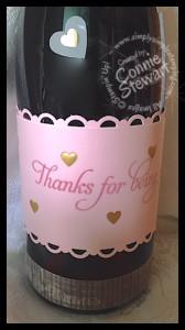Valentine Wine - www.SimplySimpleStamping.com