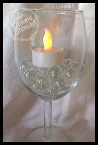 Wine Glass Lamp Shade - www.SimplySimpleStamping.com