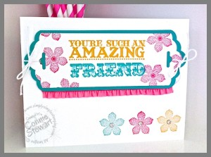 Video Tutorial on using the Scallop Tag Topper Punch to create layers  - www.SimplySimpleStamping.com
