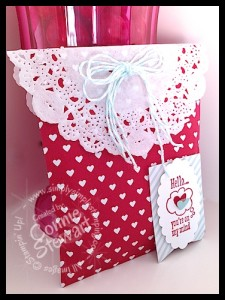 Sweetheart Treat Bags - learn 5 different ways to create SWEET projects using these fabulous bags!   www.SimplySimpleStamping.com  Available through JANUARY 27, 2014!