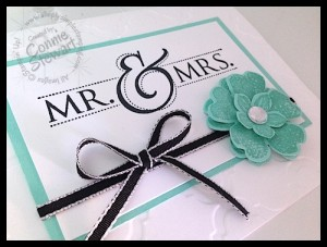 Mr. & Mrs. Wedding Flash Card - www.SimplySimpleStamping.com