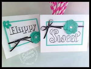 HAPPY and SWEET Flash Card - Countless Saying II - www.SimplySimpleStamping.com