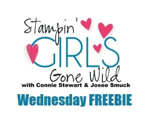 Stampin' Gals Gone Wild Wednesday FREE Tutorial - see it at www.SimplySimpleStamping.com