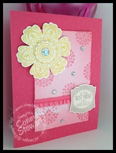 Flash Card - Mixed Blossom Friendship by Connie Stewart - www.SimplySimpleStamping.com