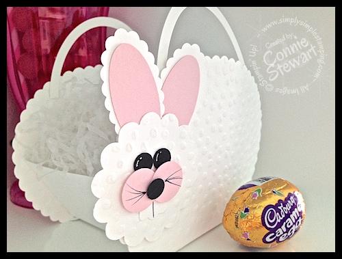 Big Bunny Basket = www.SimplySimpleStamping.com - Created by Connie Stewart