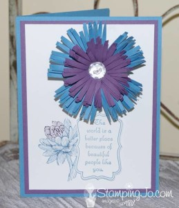 Fringed Flower - Stampin' Gals Gone Wild Wednesday Video - www.SimplySimpleStamping.com