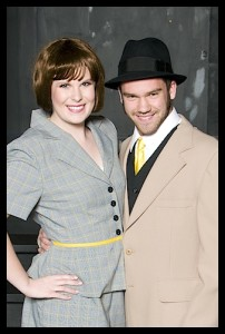 "Christina Stewart & Richard Riedl in ""Thoroughly Modern Millie"" Moore High School March, 2014"