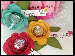 Hershey Kiss Roses - Stampin' Gals Gone Wild Wednesday Freebie video tutorial - www.SimplySimpleStamping.com - Created by Connie Stewart