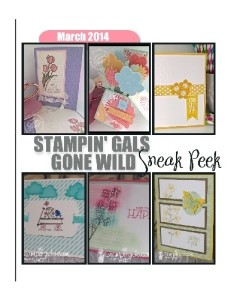 Stampin' Gals Gone Wild March Sneak Peek - (6) FREE videos and tutorials with any $20 purchase.  Use Hostess Code U34TUR27