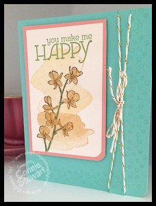 Flash Card - You Make Me Happy - www.SimplySimpleStamping.com - created by Connie Stewart