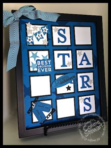 Framed Art for College dorm - OCU Stars - www.SimplySimpleStamping.com - Created by Connie Stewart