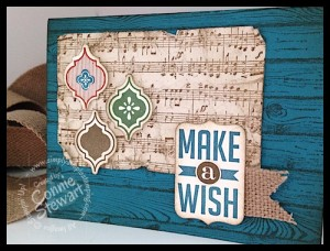 FLASH CARD - Masculine Make A Wish - www.SimplySimpleStamping.com - created by Connie Stewart