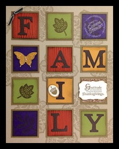FAMILY Framed Art - www.SimplySimpleStamping.com
